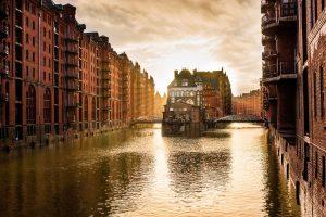 Foto von der Speicherstadt in Hamburg